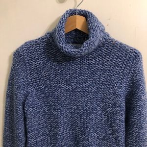 The Eagle's Eye Blue Turtleneck Sweater